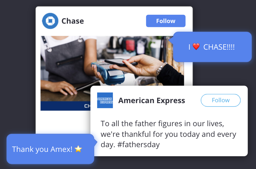 paid social snapshot report - financial services